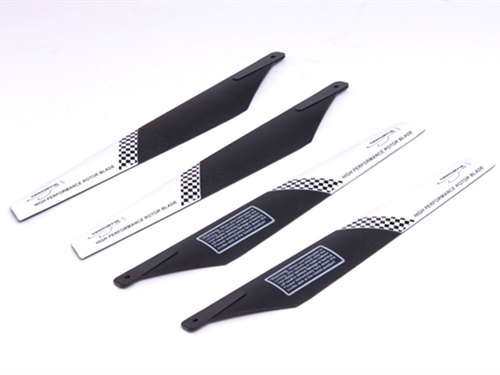 SPIRIT / LAMA MAIN ROTOR BLADE SET (Plain Black)