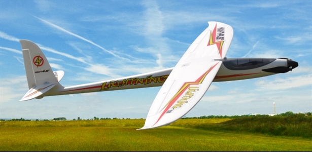 MAX-THRUST LIGHTNING 1500 ELECTRIC GLIDER. PLUG AND PLAY