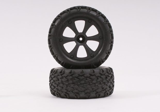 BSD BLACK WHEEL AND TYRE (PAIR)