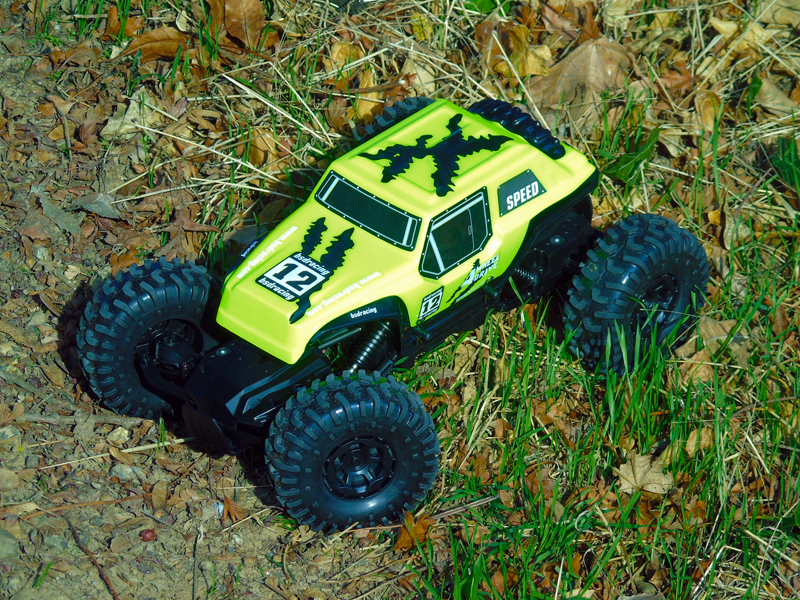 BSD 1/12TH 4WD ROCK CRAWLER 2.4GHZ - YELLOW
