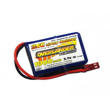 1000mAh 1S 3.7v 25C LiPo Battery