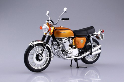 AOSHIMA 1/12 Honda CB750 FOUR(K0) Candy Gold READY BUILT