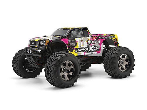 Nitro GT-3 Truck Painted Body (Yellow/Pink/Black)