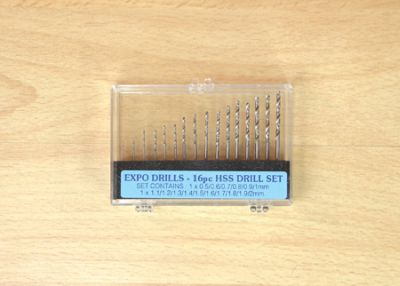 Expo 16pc HSS Twist Drill Set 0.5 - 2mm 115-16