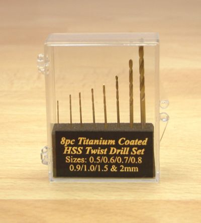 Expo 8pc HSS Titanium Coated Twist Drill Set  115-30