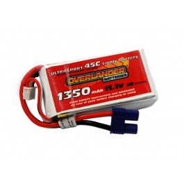 Ultrasport 1350 3S 11.1v 50C LiPo EC3 Connector