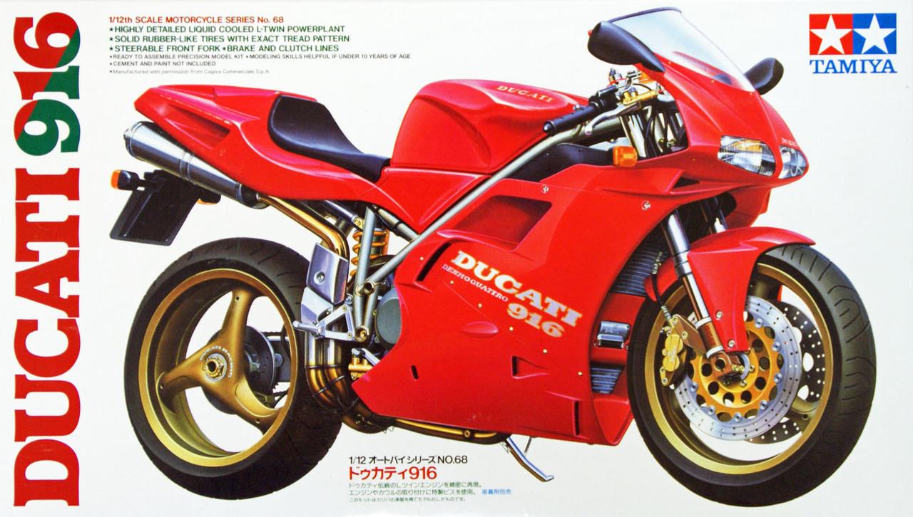 Tamiya Ducati 916 Plastic Model Motorbike Kit