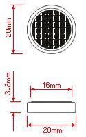 CR2032 lithium coin cell