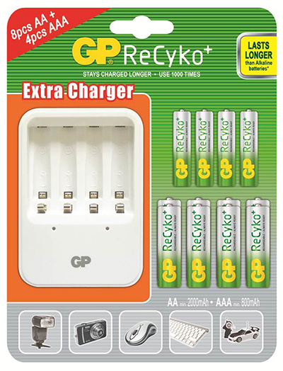 GP Charger + Rechargeables Bundle