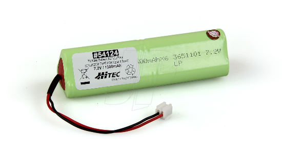 HITEC TX NIMH PACK 7.2V 1300mAh OPTIC 6 SPORT