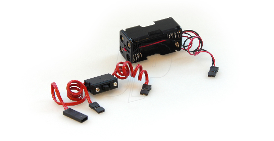 Hitec Switch Harness & Battery Box (PN57217)