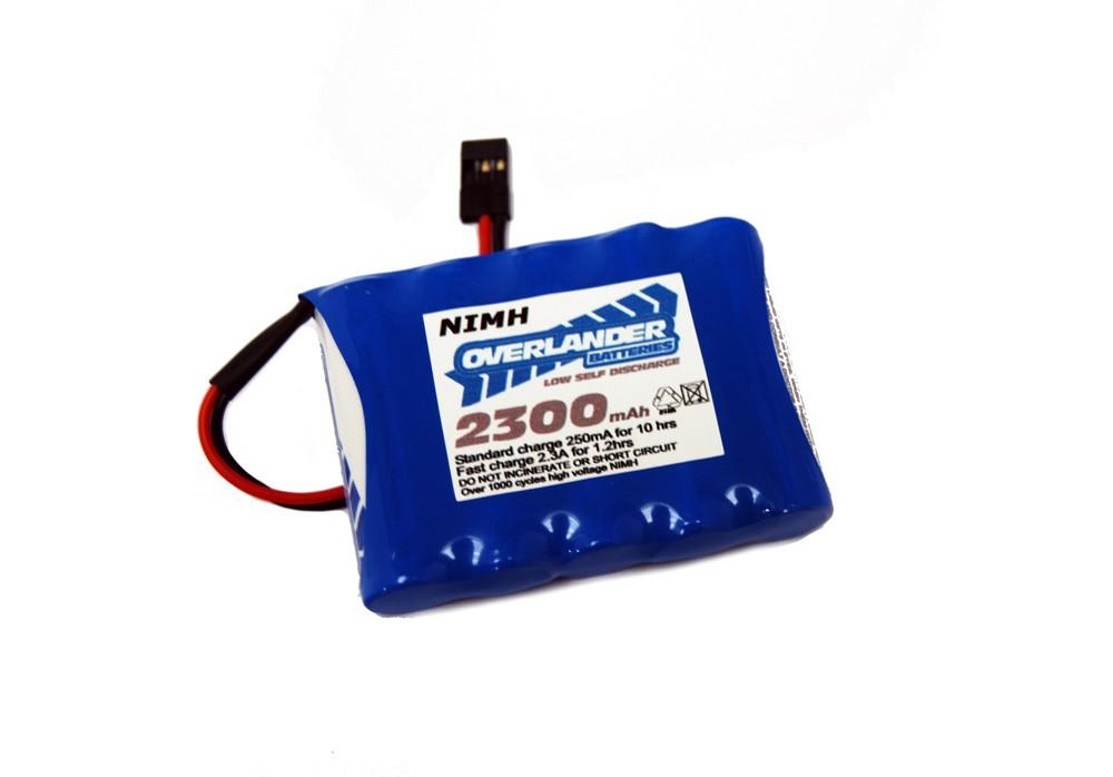 Nimh Battery Pack LSD AA 2300mah 6v Receiver Flat Premium Sport