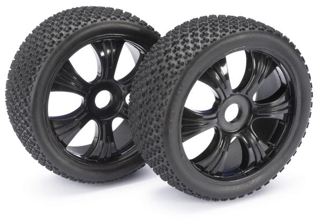 Wheel Set LP Buggy Dirt black 1:8 (2)