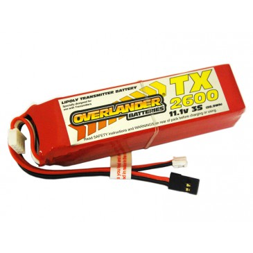 2600mAh 3S 11.1v LiPo Battery for Transmitters