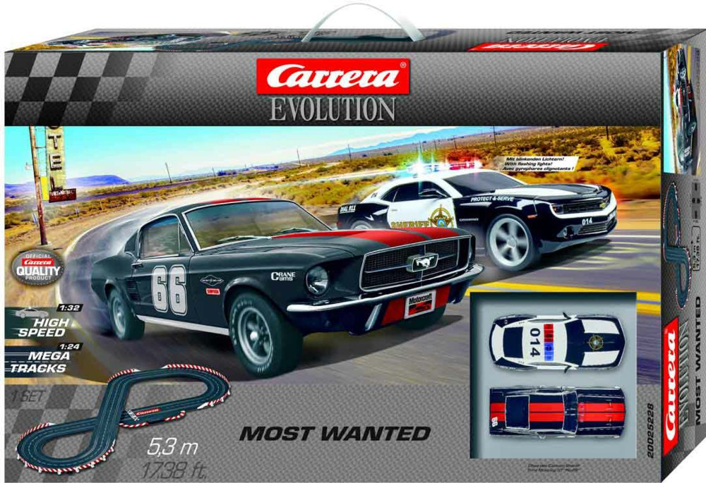Carrera Evolution 1/32 Scale Most Wanted Set