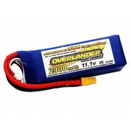 Lipo Batteries 2900mAh 3S 11.1v 30C Supersport