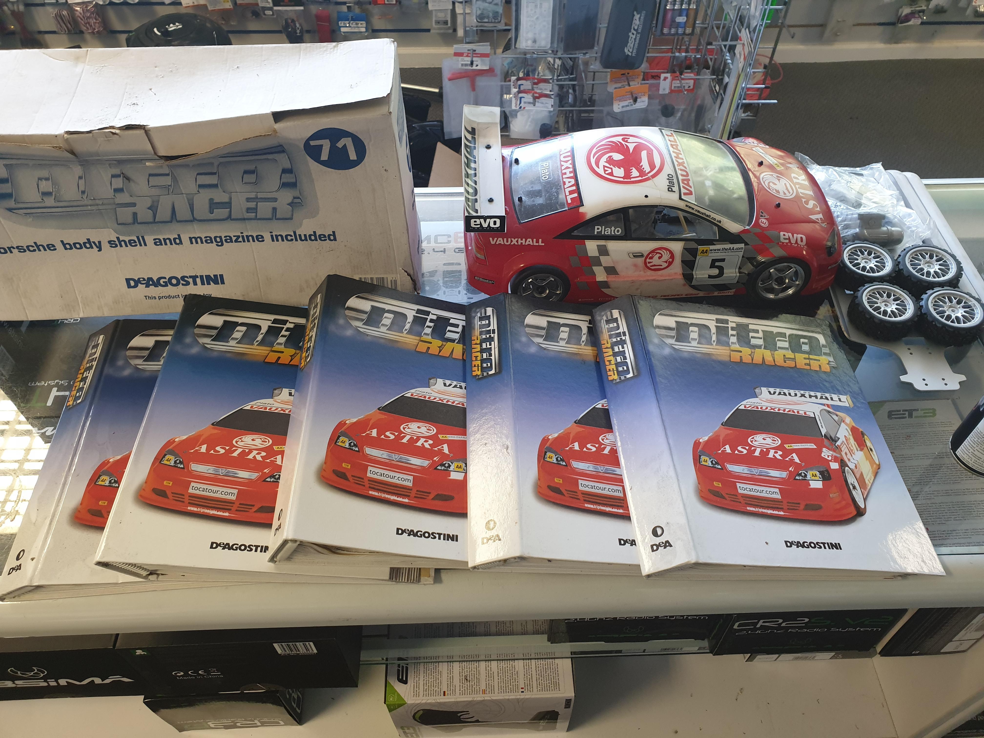 Kyosho Pureten Alpha Deagostini Astra RC Touring Car Nitro Racer Vauxhall 1/10