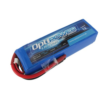 Optipower Ultra 50C Lipo Cell Battery 3300mAh 4S