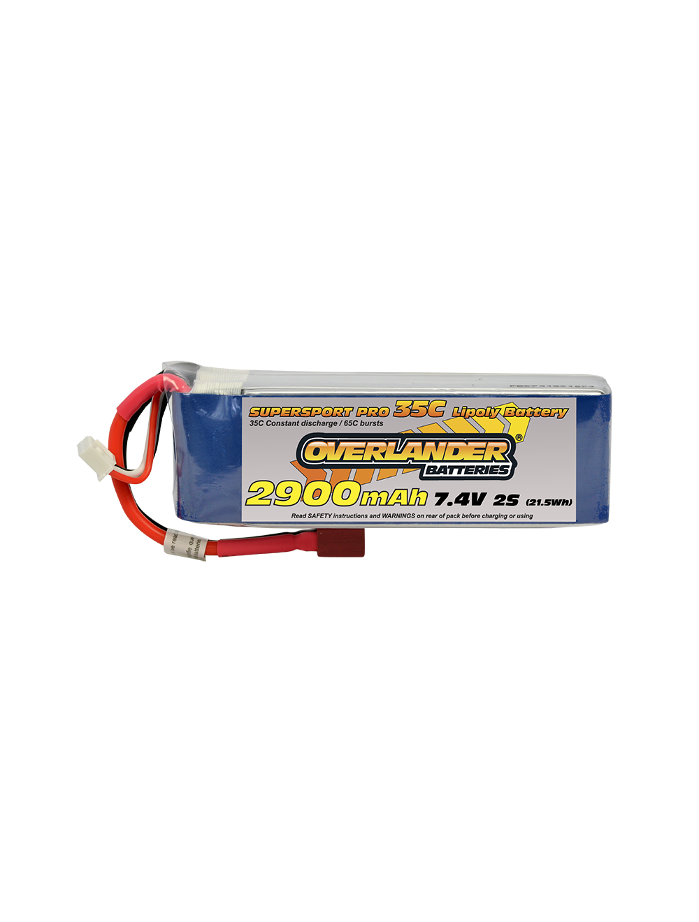 2900MAH 7.4V 2S 35C SUPERSPORT PRO LIPO BATTERY (Deans)
