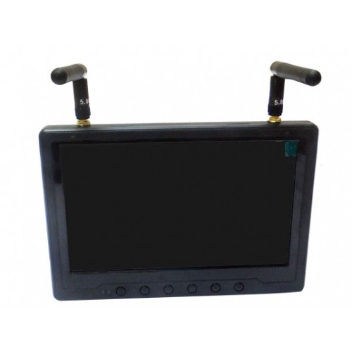 Black Pearl 7 Inch FPV Monitor with Integrated Battery 32 Channel