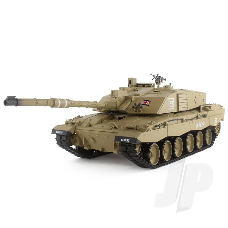 1:16 British Challenger 2 (2.4GHz+Shooter+Smoke+Sound) Metal Gearbox