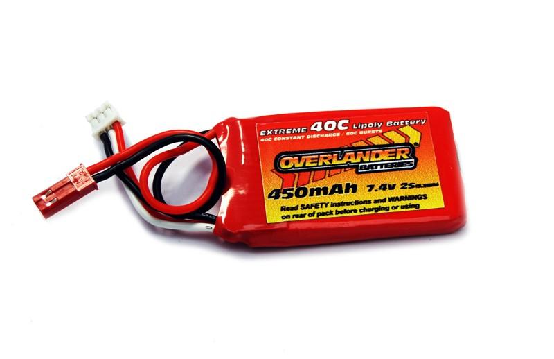 Extreme 450 mAh 2S 7.4v 40C Blade 130X LiPo Battery