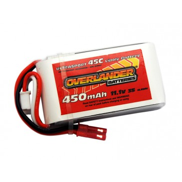 450mAh 3S 11.1v 45C LiPo Battery for Blade 180CFX - Overlander Ultrasport
