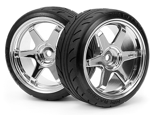 MOUNTED SUPER DRIFT TYRE (A TYPE) ON TE37 WHEEL CHROME