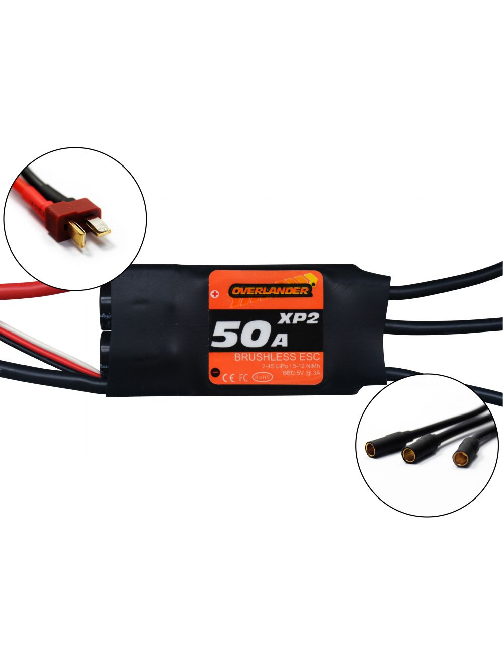 XP2 50A BRUSHLESS RTF SPEED CONTROLLER