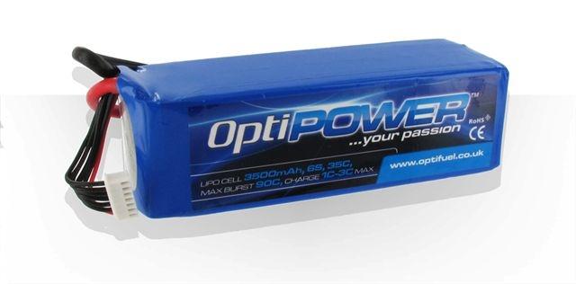 Opti Power Lipo Cell Battery 3500mAh 6S 35C