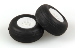 JP 1.1/2ins - (37mm) WHITE WHEELS (2)