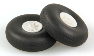 JP 2.3/4ins - (69mm) WHITE WHEELS (2)