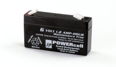 6V-1.2amp Powercell Gel Battery