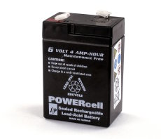 6V-4.5amp Powercell Gel Battery