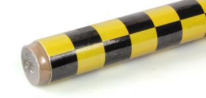 2Mtr Oracover Fun-3 Large Chequered Yellow/Black