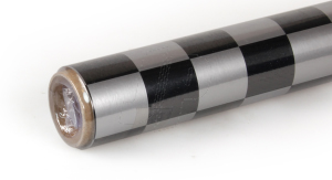 2Mtr Oracover Fun-3 Large Chequered Silver/Black