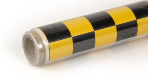 2Mtr Oracover Fun-3 Large Chequered Pearl G.Yellow/Black
