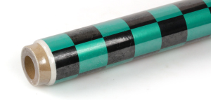 2Mtr Oracover Fun-3 Large Chequered Pearl Green/Black