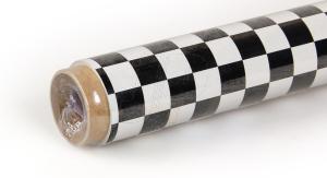 2Mtr Oracover Fun-4 Small Chequered White/Black