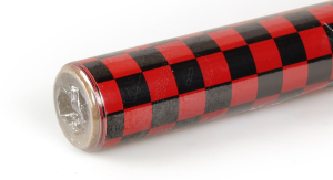 2Mtr Oracover Fun-4 Small Chequered Red/Black