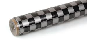 2Mtr Oracover Fun-4 Small Chequered Silver/Black