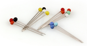 GLASS HEADED PINS (ASSORTED COLOURS)(10g)