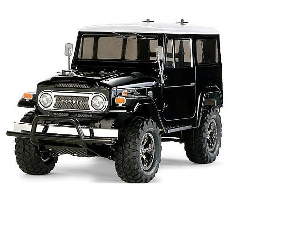 58564 Tamiya Toyota Land Cruiser 40 with Black Painted Body