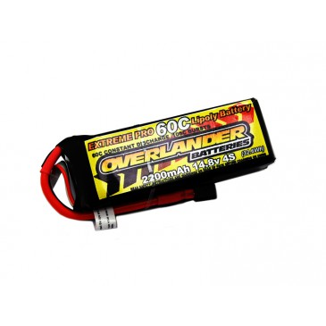 2200mAh 4S 14.8v 60C LiPo Battery - Overlander Extreme Pro