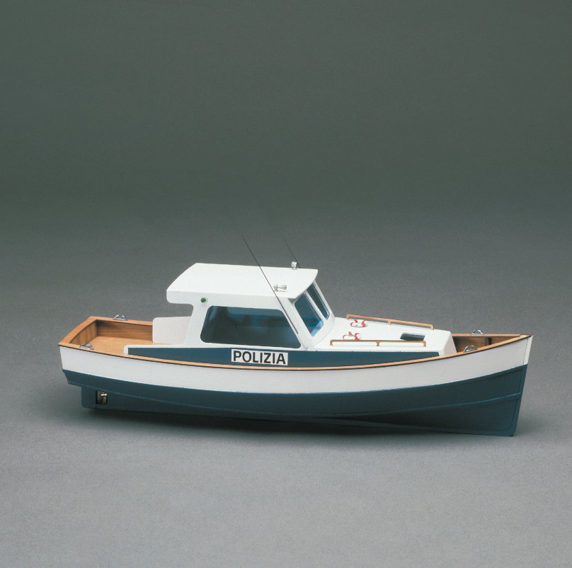 Police Launch 1 35 Scale Wooden Motor Boat Kit