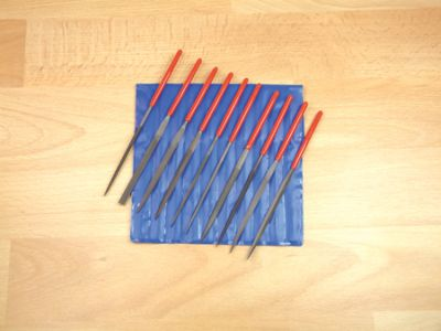 Expo Set of 10 Steel Needle Files in wallet 725-10