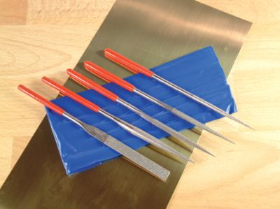 5pc Diamond Warding File Set in wallet