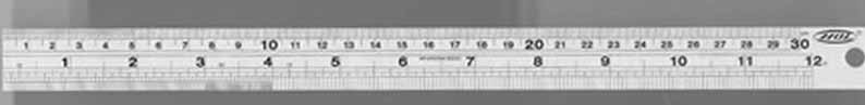 Expo STAINLESS STEEL RULE 12 inch rule 740-11