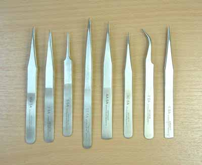 8pc High Quality Tweezer Set in Wallet