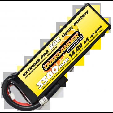 3300mAh 4S 14.8v 80C LiPo Battery - Overlander Extreme Pro